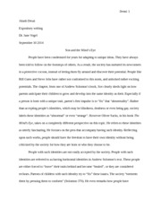 Son and minds eye essay