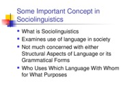 CONCEPTS IN SOCIOLINGUISTICS-3.Outline