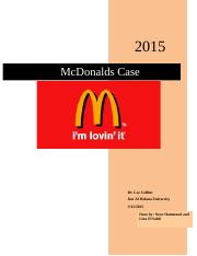 McDonald's offical case done