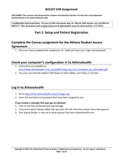 EHR Assignment revised - Athena-2