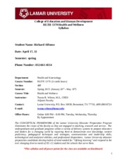 HLTH 1370 Syllabus Contract - Spring 2015(1)-1