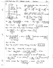 CEE 3310 Final Fall 2002 Solution