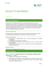 BCO217 EBUSINESS