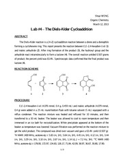 #4 The Diels-Alder Cycloaddition