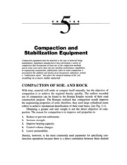 Compaction and Stabalization eqipments