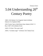 5.04 Understanding 20th Century Poetry.docx
