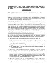 Nominee Agreement - Land.doc