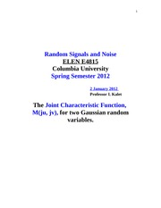 COL+UNIV+2012+SPRING-The+Joint+Characteristic+Function+forTwo+Gaussian+Random+Variables-1+JAN+2012