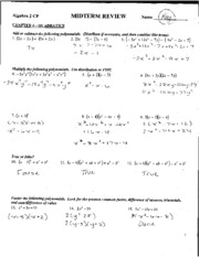 6.1-6.3 Quiz Review Answer Key - REVIEW Evaluating nth ...