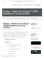Radius – Math and Coding™ STEM Readiness Course Outline – EverFi K12 Teacher Resource Center