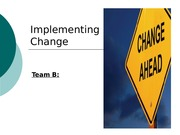 MGT 380 Week 5 - Team - Implementing Change Presentation