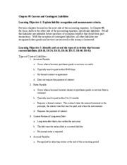 contingent liability essay Review of ias 37 provisions, contingent liabilities and contingent assets (the  liabilities project) 4 and the review of ias 18 revenue.