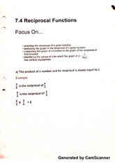 reciprocal functions notes