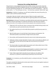 LAWRENCE.ROSA.Summary.Pre-Writing.Worksheet