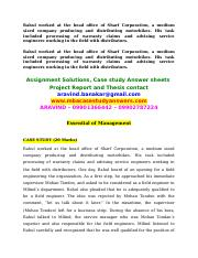 Comment on the behavior of Mohan Tondon as a manager.docx
