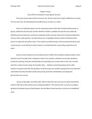 How did the Constitution Guard Against Tyranny five paragraph essay.docx