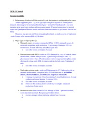 Lecture Notes 8 - Genome Instability