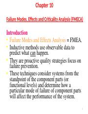 Ch 10 - Failure Modes, Effects And Criticality Analysis FMECA.ppt