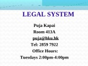 Legal_System_Lecture_1_PPT_010908