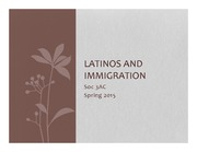 Soc3AC Principles of Sociology: Latinos and Immigration Lecture