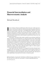 Financial Intermediation and Macroeconomic Analysis