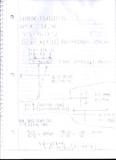 Linear Function Notes