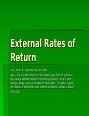 Lecture 18A -External Rates of Return.ppt