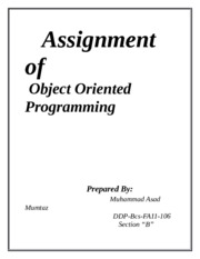 Assignment of OOP (LAB 2)