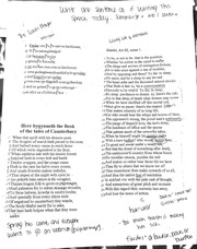 ENG 207 Notes on Shakespeare Language