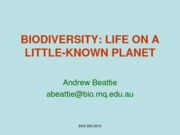 Week 6 Lecture 12 - Biodiversity