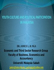 20141218 Youth Culture and Political Participation in Malaysia-ISEAS-drJaniceNga-PPT2007-new 2016092