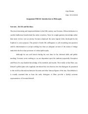 ASSIGNMENT PHI110- Introduction to Philosophy.doc