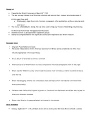 History Study Guide (MidTerm)