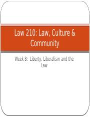 Law Culture and Community Week 8