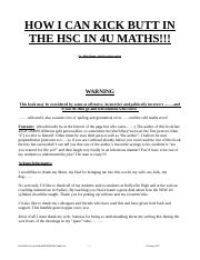 4U hsc questions by topics 1990 to 2006 and summary