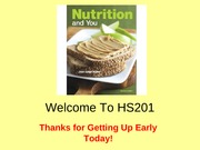 HS201 - (1) What is Nutrition
