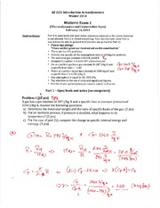 Sample 1 Midterm 1 Solutions
