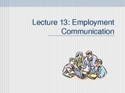 Lec 13 Job searching