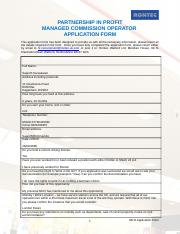 MCO Application Form
