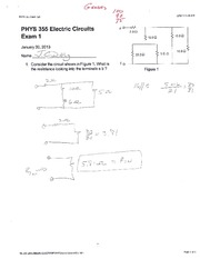 Exam 1 Solutions Spring 2013