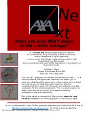 AXA NEXT Flyer