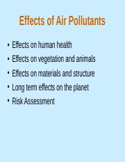 4.2 effects of air pollutants on human and environment.ppt
