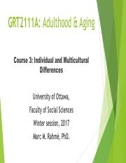 Lecture 3 (Adulthood & Aging)