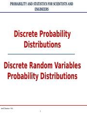 Discrete Random Variables Probability Distributions Edited 6-23.ppt
