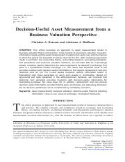 Decision-Useful Asset Measurement from a Business Valuation Perspective.pdf
