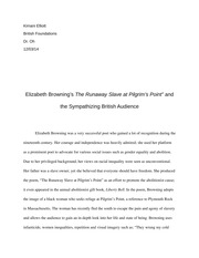 final essay on lorna goodison s tightrope walker and the  6 pages elizabeth browning essay