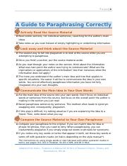 A Guide to Paraphrasing Correctly