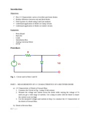 ECE 291 - The Diode and Diode Circuits.docx