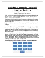 Relevance of behavioral Tools while Selecting a Candidate (1).docx