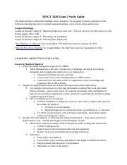 HRMN 3420 Exam 2 Study Guide Fall17.docx
